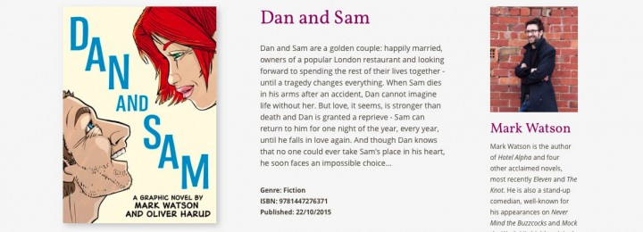 Dan and Sam: Launch party on Wed 28 October
