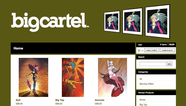 Buy my artwork at Big Cartel